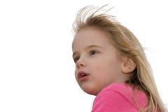 Fille avec l'expression étonnée Photographie stock libre de droits