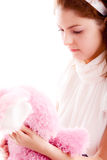 Fille avec l'ours de nounours Photo stock