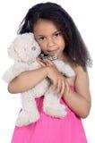 Fille avec l'ours de nounours Photo libre de droits