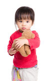 Fille avec l'ours de poupée image libre de droits