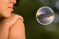 Fille avec la bulle Images libres de droits