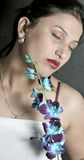 Fille avec la fleur Photographie stock libre de droits