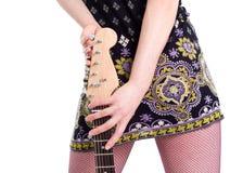 Fille avec la guitare Photos libres de droits