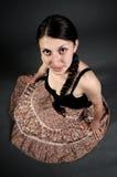 Fille avec la jupe Photo libre de droits