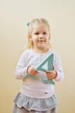Fille avec la lettre A Photos libres de droits
