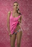 Fille avec la lingerie de mode Image stock
