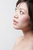 Fille avec la peau saine Photographie stock