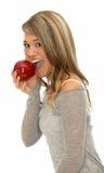 Fille avec la pomme Image stock