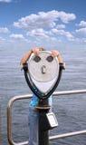 Fille avec la portée Photographie stock libre de droits