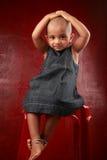 Fille avec la tête rasée Photographie stock libre de droits