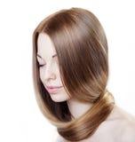 Fille avec le beau cheveu Photographie stock