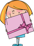 Fille avec le cadeau Image stock