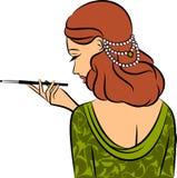 fille avec le canon-bit. illustration libre de droits