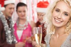 Fille avec le champagne Images libres de droits