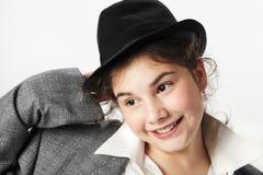 Fille avec le chapeau photos libres de droits