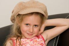 Fille avec le chapeau Image stock