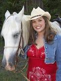 Fille avec le cheval Photo libre de droits
