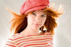 Fille avec le cheveu oscillant Images stock