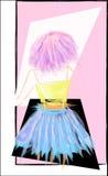Fille avec le cheveu rose Illustration Libre de Droits