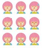Fille avec le cheveu rose Photographie stock libre de droits