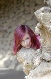 Fille avec le cheveu rouge Images libres de droits