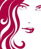 Fille avec le cheveu rouge Image libre de droits