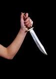 Fille avec le couteau Photos libres de droits