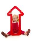 Fille avec le dard rouge Image libre de droits