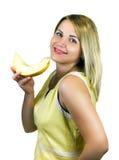 Fille avec le fruit Photo stock