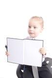 Fille avec le livre Image stock