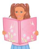 Fille avec le livre illustration libre de droits