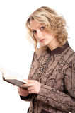 Fille avec le livre Image libre de droits