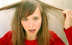 fille avec le long cheveu Photo libre de droits