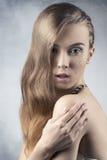 Fille avec le maquillage brillant Images libres de droits