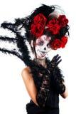 Fille avec le maquillage dans le style de Halloween photos stock