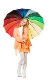 Fille avec le parapluie photos libres de droits