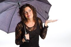 Fille avec le parapluie photo stock