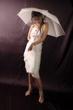 Fille avec le parapluie image libre de droits
