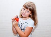 Fille avec le parfume Photographie stock libre de droits