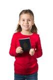 Fille avec le passeport canadien photographie stock libre de droits