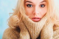 Fille avec le plan rapproché de maquillage Images libres de droits