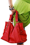 Fille avec le sac à main Photographie stock libre de droits