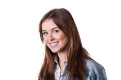 Fille avec le sourire toothy Photographie stock libre de droits