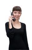 Fille avec le téléphone images libres de droits