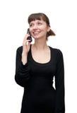 Fille avec le téléphone image libre de droits