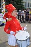 Fille avec le tambour. Image stock