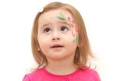 Fille avec le visage-art Photographie stock libre de droits
