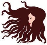 Fille avec les cheveux bruns Photos libres de droits