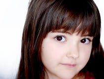Fille avec les yeux bruns Photos stock