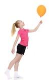 Fille avec un ballon Images libres de droits